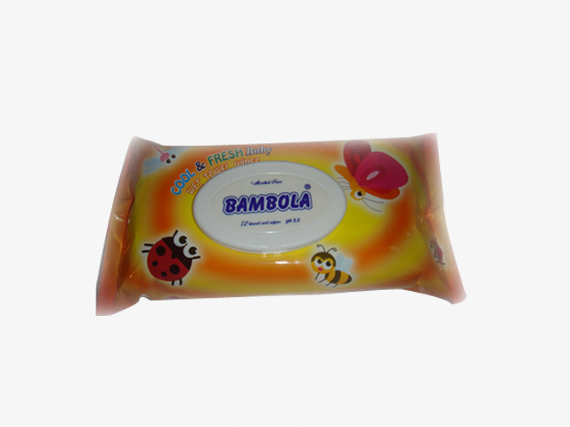 Bambola Baby Wipes Orange with cap