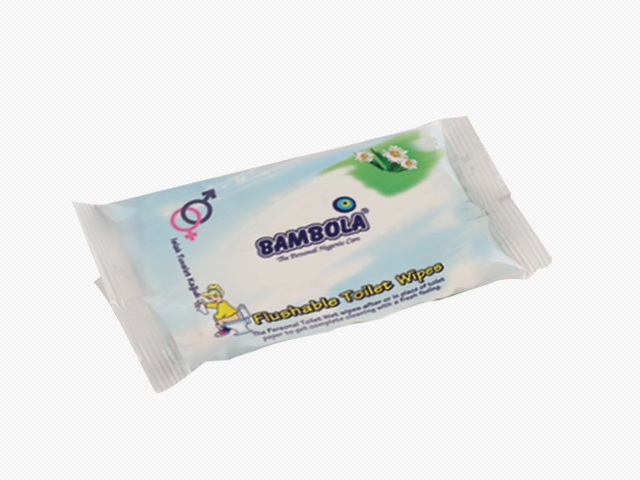 Flushable Toilet Wet Wipes